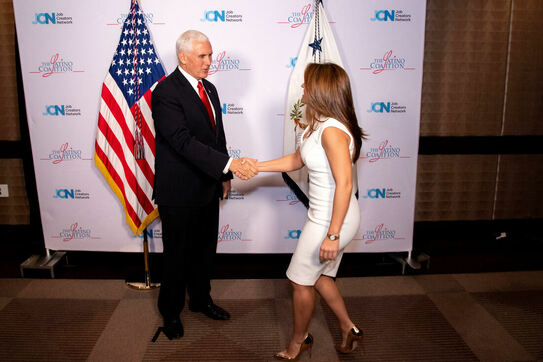 VP Mike Pence and Nicole Wolter